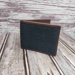 Coach blue bi fold wallet